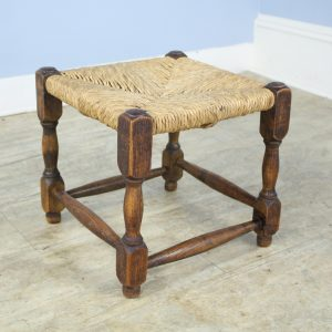 Antique Rush Seated Stool