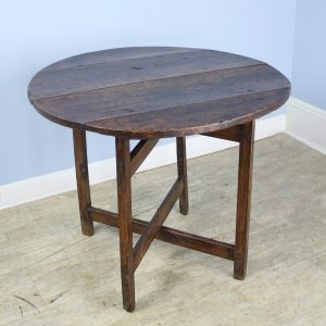 Antique Poplar X Based Side Table