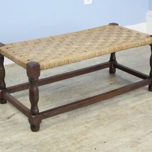 Antique English Turned Leg String Stool