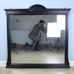 Large Ebonized Walnut Mirror
