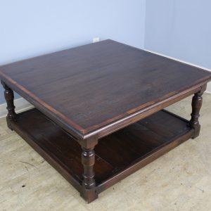 Dark Oak English Potboard Coffee Table