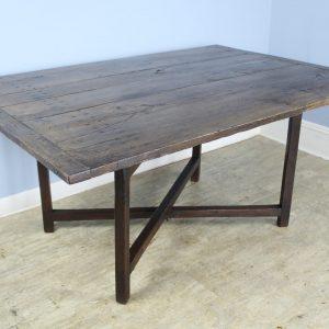 Rustic X Based Oak Farm Table
