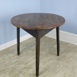 Antique Welsh Elm Cricket Table