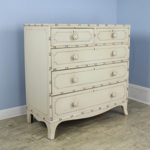 Painted Chest of Drawers with Bamboo Mouldings