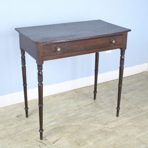 Georgian Oak Bowfront Side Table with Turned Spider Legs