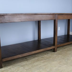 Long Fruitwood Draper's Table, Custom Made in France of Old Wood