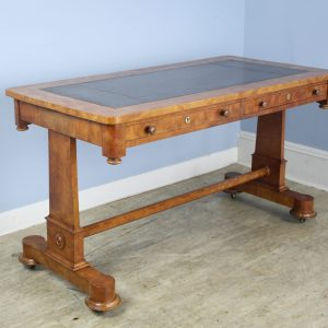 Louis Philippe Fruitwood Partner's Desk with Original Leather Top