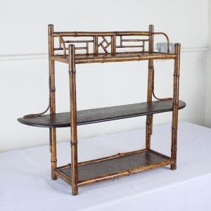 Antique English Bamboo Shelves