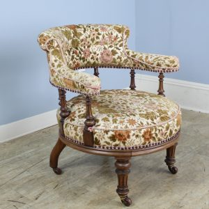 19th Century Easy Chair with Walnut Frame
