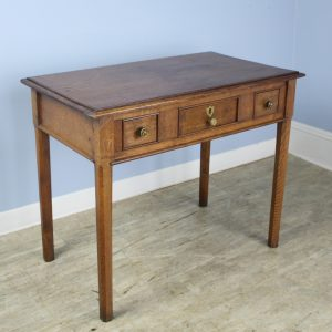 Antique Golden Oak Side Table