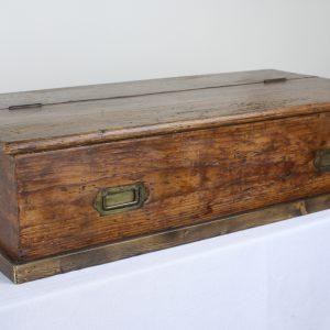 Antique Pine Campaign Box