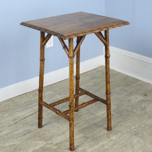 Antique Bamboos Side Table with Wooden Top