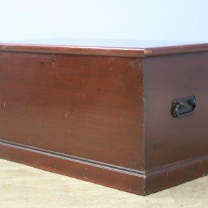 19th Century Painted Pine Blanket Box