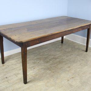 Wide Pale Oak Antique Farm Table
