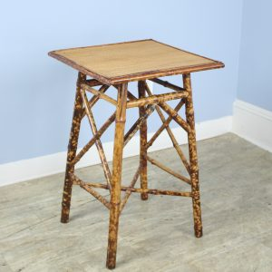 Square Top Antique Bamboo Side Table