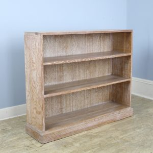 English Limed Bookcase, Original Liming in the Style of Heal's