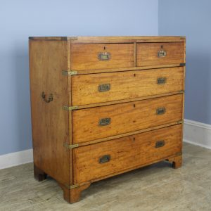 Mahogany Campaign Chest of Drawers, One Piece