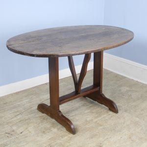 Antique Oval Walnut Wine Table