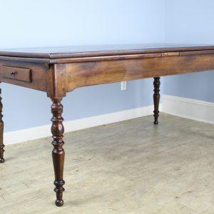 Louis Philippe Chestnut Drawleaf Farm Table, Bread Tray