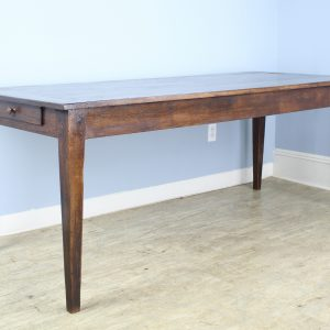 Antique Chestnut Farm Table with Breadboard Ends
